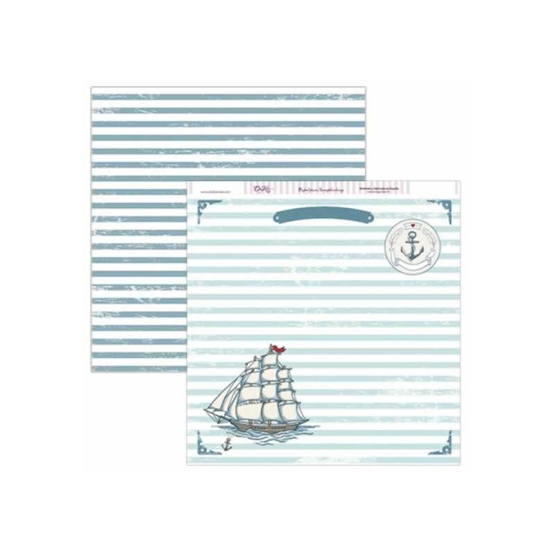 Papel scrap comunion doble cara Barco, SCP-148
