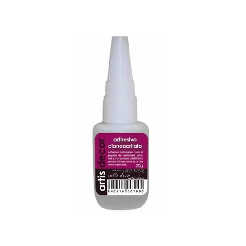 Adhesivo de cianocrilato 50 gr Artis-decor