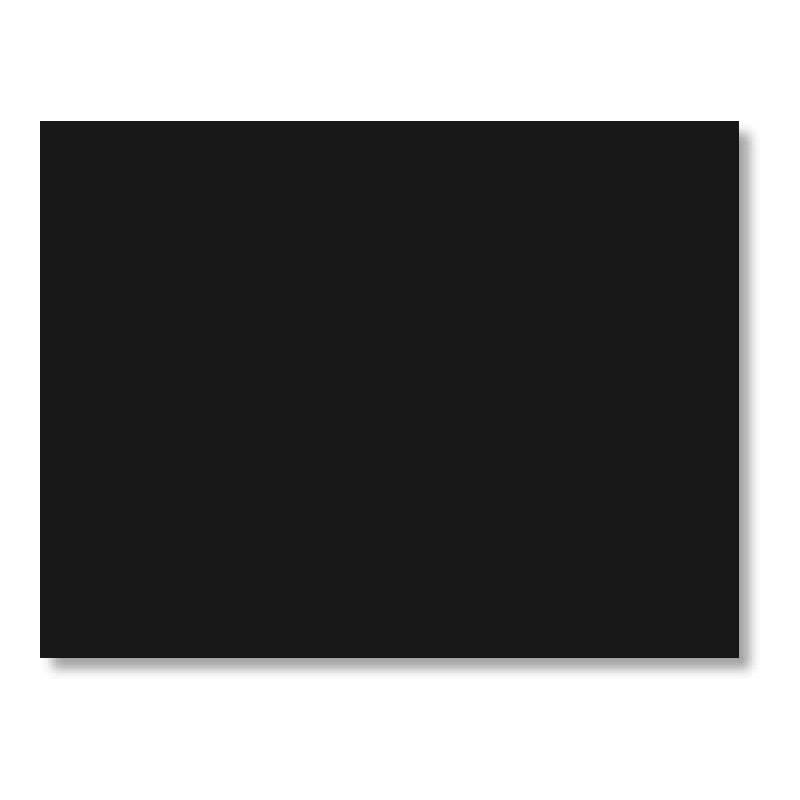 Cartulina 50 x 65 cm color negra 180 gr