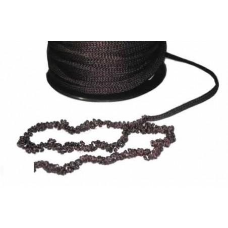 Pelo para muñecas marron de cordon cadeneta rollo 45 m
