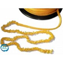 Pelo para muñecas amarillo de cordon cadeneta 1 metro