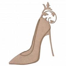 Silueta zapato con tacon en DM 13 x 18 cm