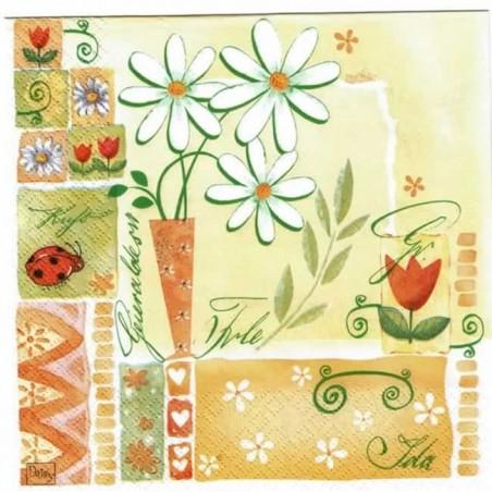 Servilleta decorada para primavera
