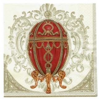 Servilleta decorada huevo faberge
