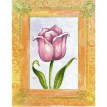 Lamina para cuadros 3D tulipan rosa