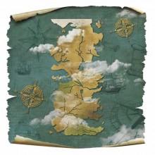 Papel sublimacion 40 x 40 cm Hielo y Fuego Mapa