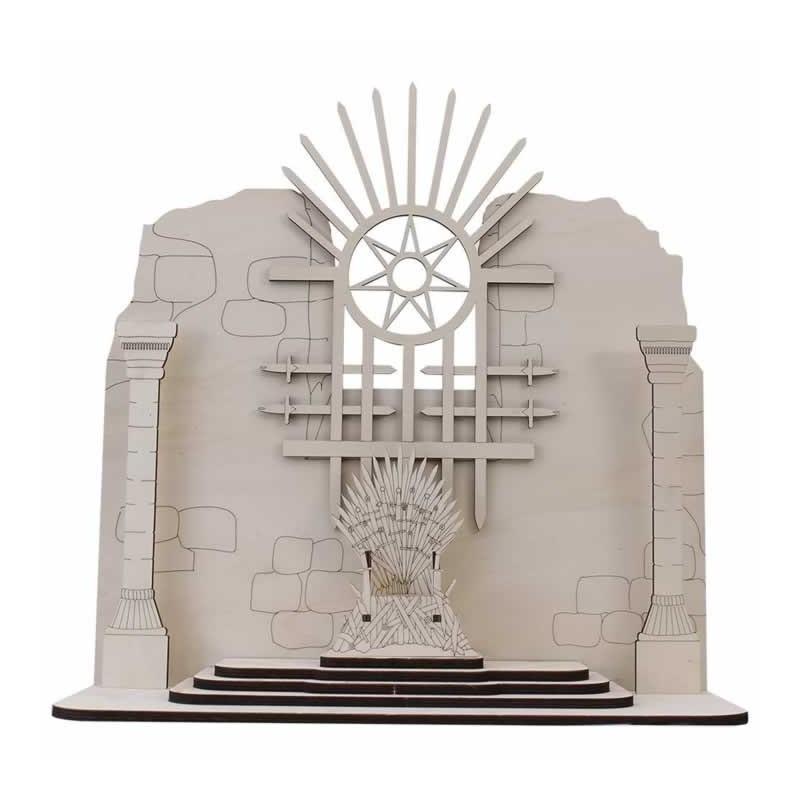 Escenario con trono coleccion Hielo y Fuego 50 x 19 x 42 cm