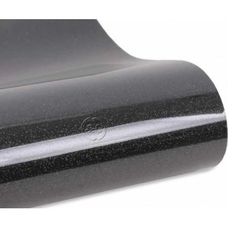 Vinilo textil termoadhesivo glitter negro 30 x 50 cm