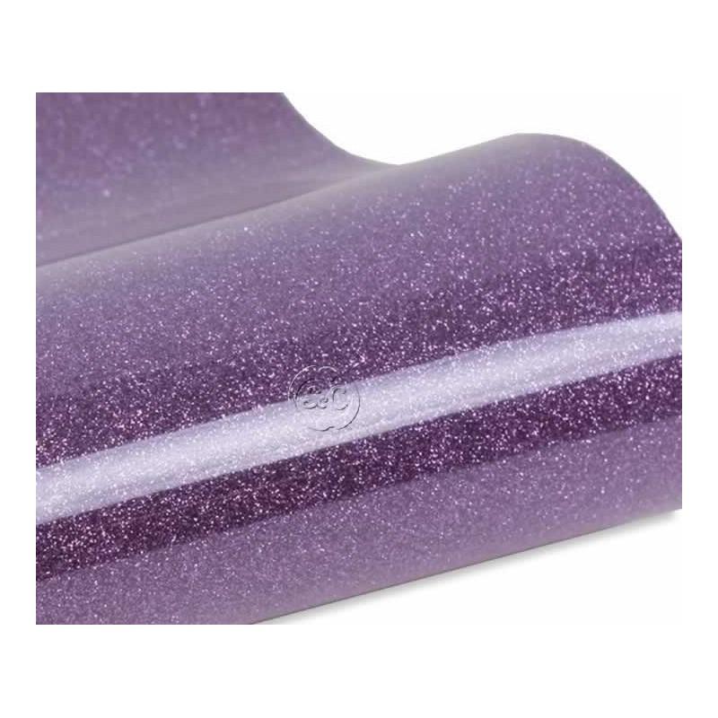 Vinilo textil termoadhesivo glitter lavanda 30 x 50 cm