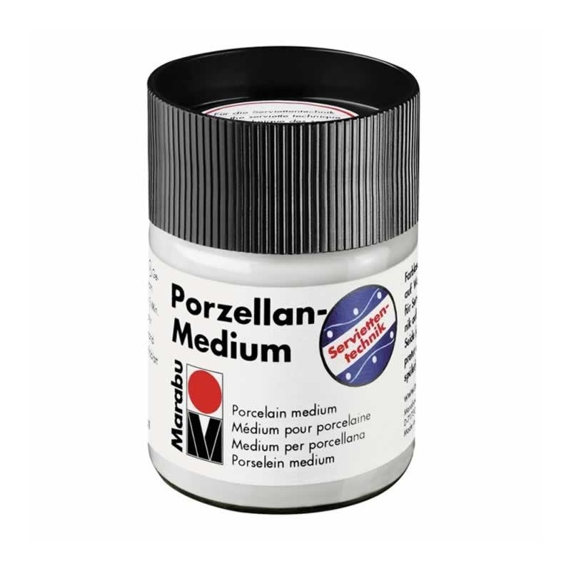 Medium porcelanico para servilletas, Marabu 50 ml