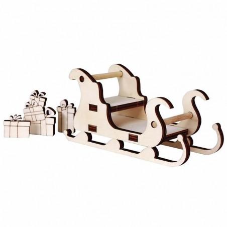 Trineo con regalos 15 x 7 x 6 cm
