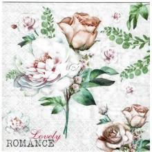 Servilleta decorada Romance