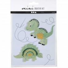 Mini kit creativo Dinosaurios para bordar