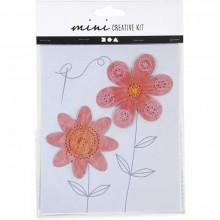 Mini kit creativo Flores para bordar