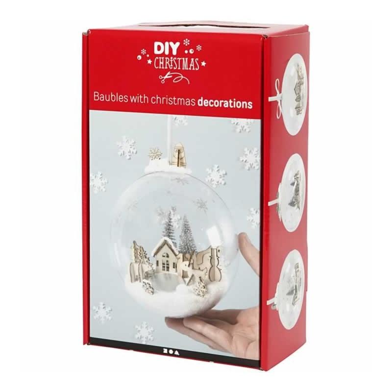 Kit Bola de navidad con decoracion