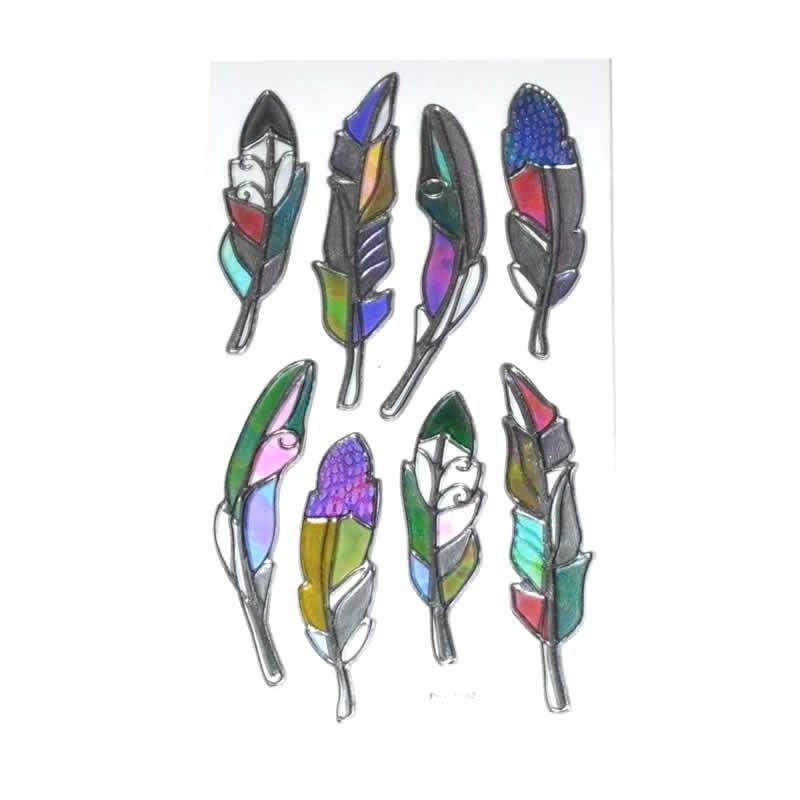 Stikers plumas 3D nacaradas