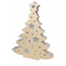 Arbol de navidad con luz de Papel mache 27 x 21 cm