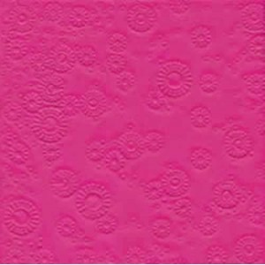 Servilleta decorada en relieve fucsia