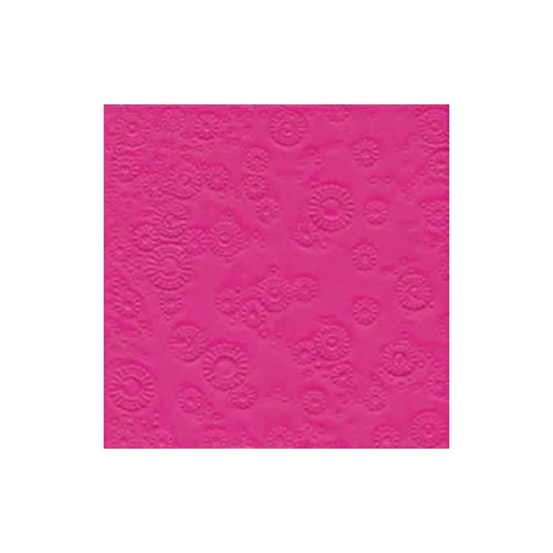 Servilleta decorada en relieve fucsia