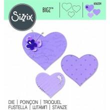 Troquel Sizzix BIGZ Corazones 656334
