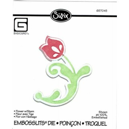 Troquel embossiling Flor con tallo