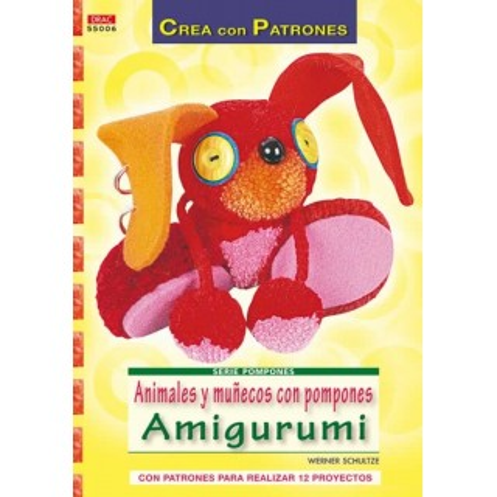 Libro DRAC 55006 Muñecos con pompones Amigurumi