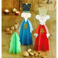 Libro DRAC 02052 Divertidas figuras de papel de navidad Reyes magos