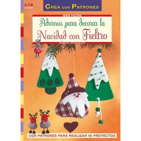 Libro DRAC 34007 Adornos de navidad con fieltro