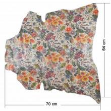 Piel entera fantasia Mosaico floral 64 x 70 cm