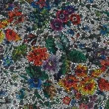 Piel entera fantasia flores con brillo 680 x 80 cm