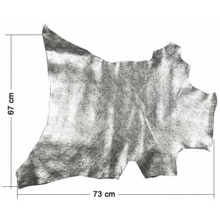 Piel entera fantasia Serpiente Plata 73 x 67 cm