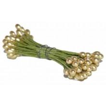 Pistilos dobles oro 6 cm
