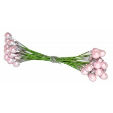Pistilos doble nacarados rosa 9 cm