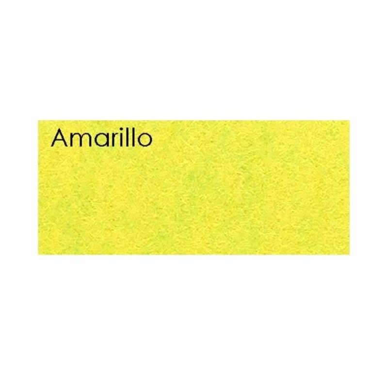 Plancha fieltro de 1 mm 45 x 30 cm Amarillo