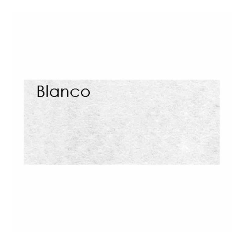 Plancha fieltro de 1 mm 45 x 30 cm Blanco