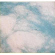 Plancha de fieltro marmolado Azul