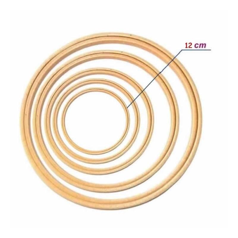 Bastidor de madera doble aro sin tornillo 12 cm