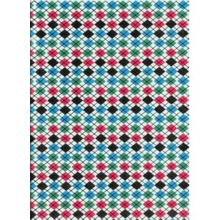 Plancha de goma eva estampada rombos de colores 2 mm