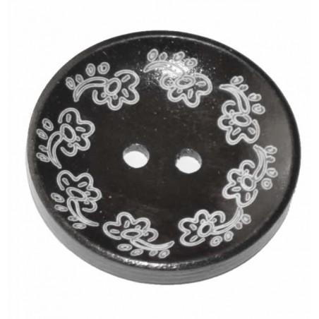 Botón de madera decorado 04
