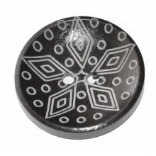 Botón de madera decorado estrella