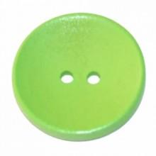 Botones de madera Verde