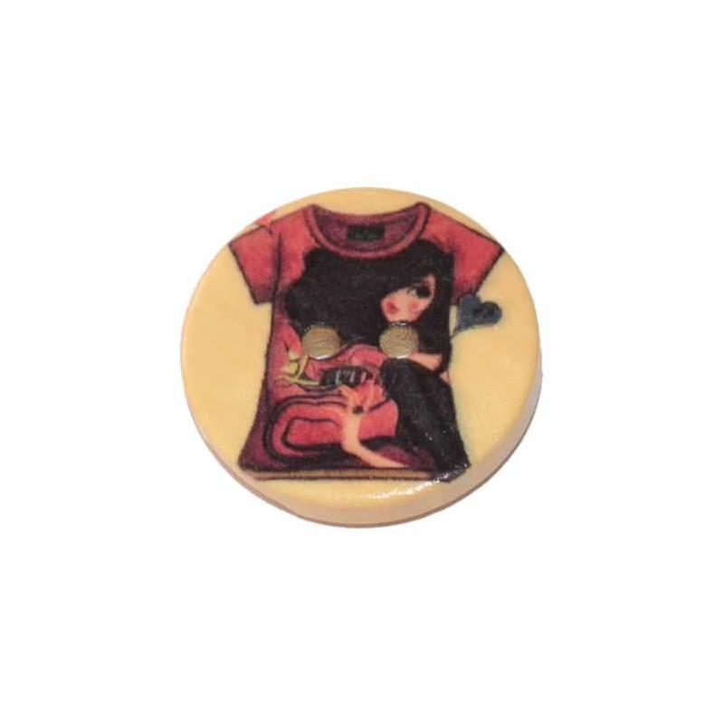 Botones de madera camiseta vintage