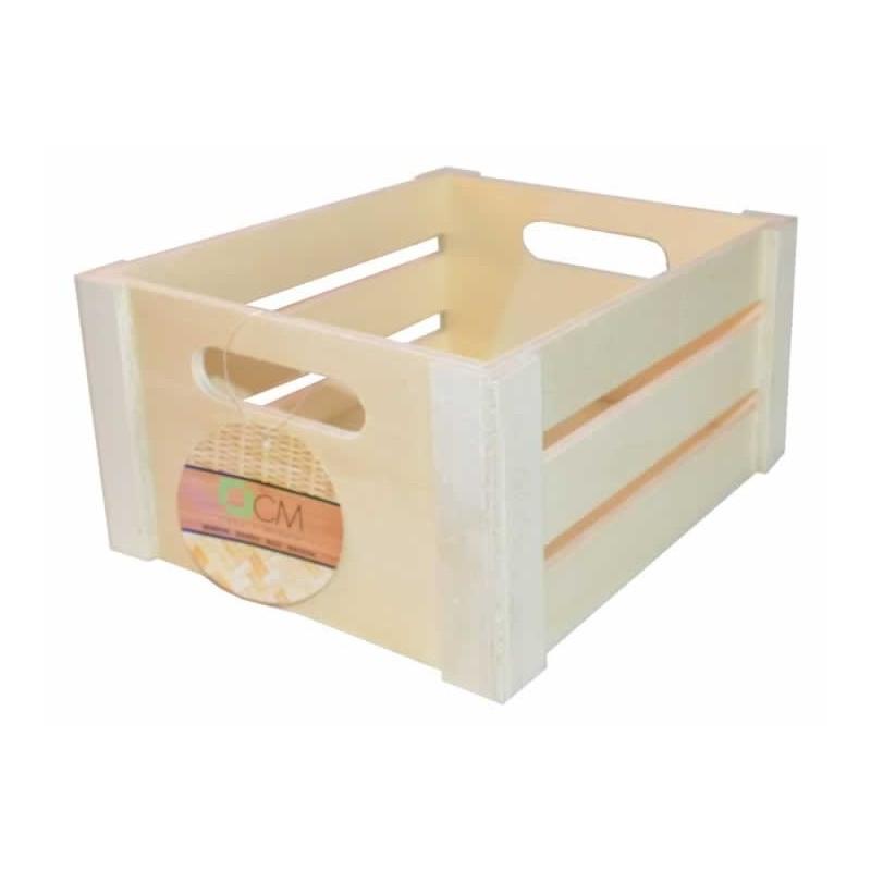 Caja de frutas de madera 22 x 19 cm
