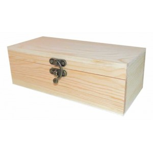 Caja madera pino rectangular 22 cm