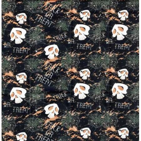 Tela popelin 100% algodon para patchwork calaveras