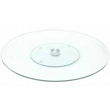 Bandeja giratoria de cristal transparente 35 cm