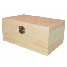 Caja de madera de pino 18 x 9 cm