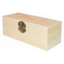 Caja de madera de pino 16 x 6 x 6 cm