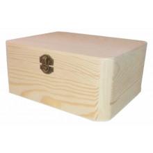 Caja de madera de pino aristas redondas 21 x 17 x 10 cm