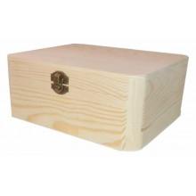 Caja de madera de pino aristas redondas 13 x 17 x 7 cm